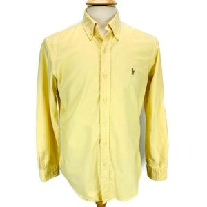 Ralph Lauren Yellow L/S Button Front Cotton Shirt